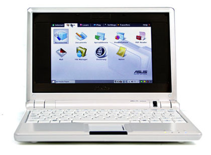 Asus Eee PC laptop in UK