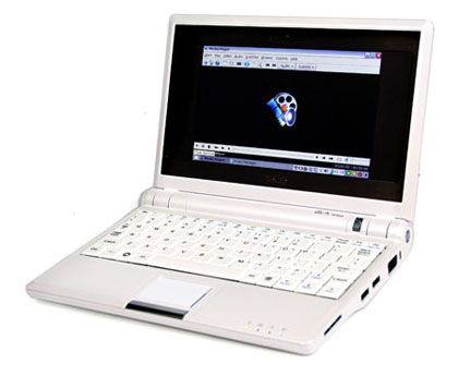 Asus Eee PC notebook in UK