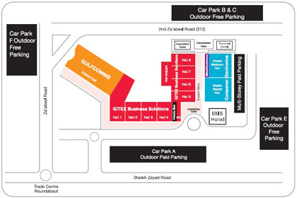 Dubai International Convention and Exhibition Centre Map