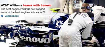 AT&T Williams names Lenovo as major sponsor