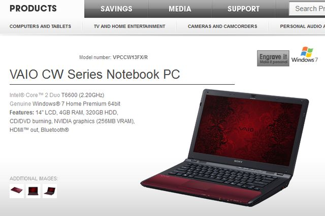 Sony VAIO CW Series Notebook PC